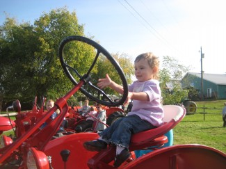 Serious tractor driving going on!